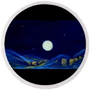 Moonlight. Winter Collection Round Beach Towel