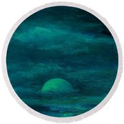 Moonlight On The Water Round Beach Towel