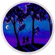 Moonlight Walk Round Beach Towel