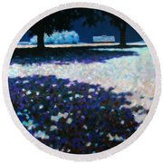 Moonlit Acres Round Beach Towel