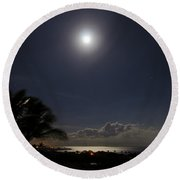 Moonlit Bay Round Beach Towel