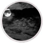 Moonlit Clouds Round Beach Towel