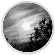 Moonlit Clouds Round Beach Towel