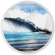Moonlit Ocean Round Beach Towel