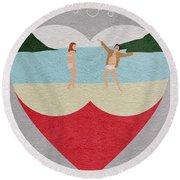 Moonrise Kingdom Round Beach Towel