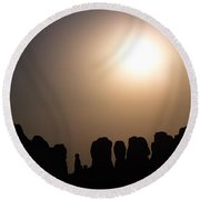 Moonrise Over Eden Round Beach Towel