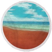 Moonset A Round Beach Towel