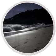 Moonshine Beach Round Beach Towel by Brent L Ander