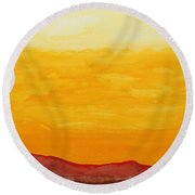 Moonshine Original Painting Sold Round Beach Towel