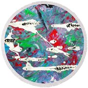 Moonwort And Rattlesnakes Round Beach Towel by Roberto Prusso