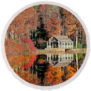 Moore State Park Autumn II Round Beach Towel
