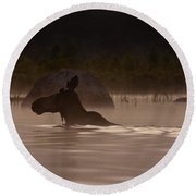 Moose Swim Round Beach Towel