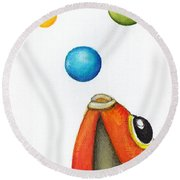 More Bubbles Round Beach Towel