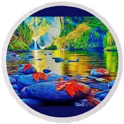 More Realistic Version Round Beach Towel