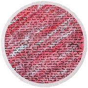 More Than Words Round Beach Towel by Jean Haynes