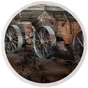 More Wagons East Round Beach Towel