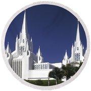 Mormon Temple Round Beach Towel