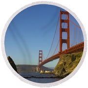Morning At The Golden Gate Round Beach Towel