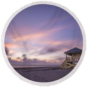 Morning Bliss Round Beach Towel