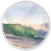 Morning Break Round Beach Towel