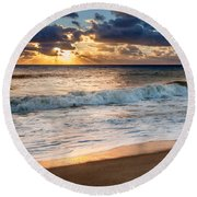 Morning Clouds Square Round Beach Towel