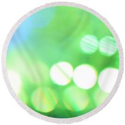 Round Beach Towel featuring the photograph Morning Dew by Dazzle Zazz