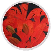 Morning Dew  Round Beach Towel