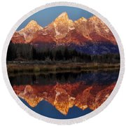 Round Beach Towel featuring the photograph Morning Glory by Benjamin Yeager