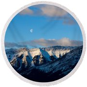 Morning In Mountains Round Beach Towel