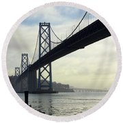 Morning In San Francisco Round Beach Towel
