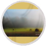 Morning In The Cove Round Beach Towel