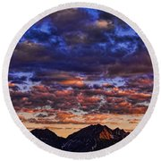 Morning In The Mountains Round Beach Towel
