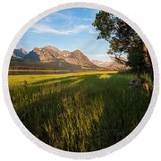 Round Beach Towel featuring the photograph Morning In The Mountains by Jack Bell