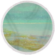 Morning Low Tide Round Beach Towel by Gail Kent