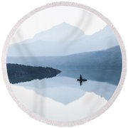 Morning Mist Round Beach Towel by Aaron Aldrich