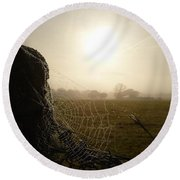 Round Beach Towel featuring the photograph Morning Mist by Vicki Spindler