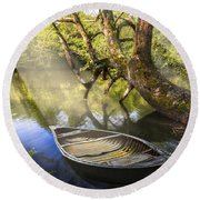 Morning Mists Round Beach Towel