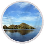 Round Beach Towel featuring the photograph Morning On Komodo by Sergey Lukashin