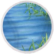 Morning On The Pond Round Beach Towel by Troy Levesque