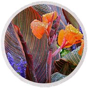 Round Beach Towel featuring the photograph Morning Rain by Joseph Yarbrough