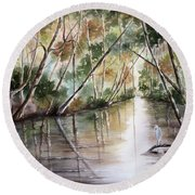 Morning Reflections Round Beach Towel