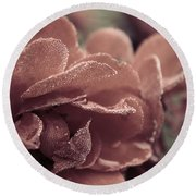 Morning Rose Round Beach Towel