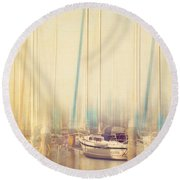 Morning Sail Round Beach Towel by Amy Weiss