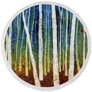 Morning Song 3 Round Beach Towel