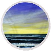 Morning Star And The Sea Oceanscape Round Beach Towel