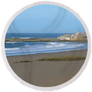 Moroccan Fishing Village Round Beach Towel