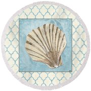 Moroccan Spa 1 Round Beach Towel