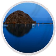 Morro Bay Calm Morning Round Beach Towel