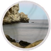 Morro Bay Morning 2 Round Beach Towel