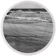 Morro Beach Walk Round Beach Towel